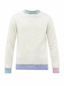 Howlin' - Contrast Trim Wool Sweater - Mens - White