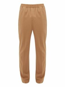 Joseph - Ettrick Elasticated Waist Tapered Twill Trousers - Mens - Camel