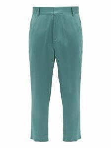Sies Marjan - Alex Cropped Satin Trousers - Mens - Green