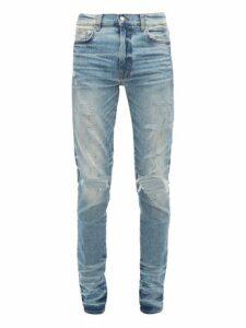 Amiri - Thrasher Distressed Slim Leg Jeans - Mens - Indigo