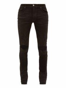Amiri - Thrasher Distressed Slim Leg Jeans - Mens - Black