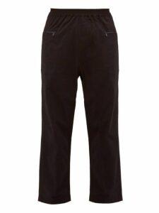 Studio Nicholson - Micro Seersucker Straight Leg Trousers - Mens - Black