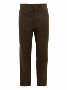 Mhl By Margaret Howell - Cotton Canvas Tapered Trousers - Mens - Green