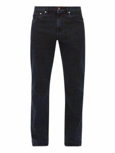 Jeanerica Jeans & Co. - Tm005 Cotton Blend Tapered Leg Jeans - Mens - Dark Denim