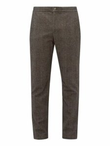 De Bonne Facture - Checked Wool Blend Trousers - Mens - Brown