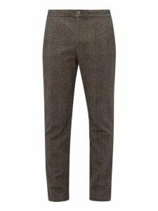 De Bonne Facture - Checked Wool Blend Trousers - Mens - Brown