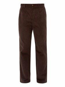 De Bonne Facture - Medium Wale French Corduroy Trousers - Mens - Dark Brown
