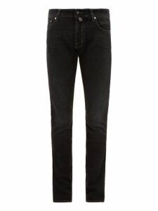 Jacob Cohën - Mid Rise Slim Fit Cotton Blend Jeans - Mens - Black