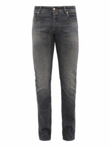 Jacob Cohën - Mid Rise Slim Fit Cotton Blend Jeans - Mens - Grey