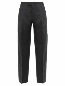 The Row - Martin Pleated Wool Blend Wide Leg Trousers - Mens - Grey