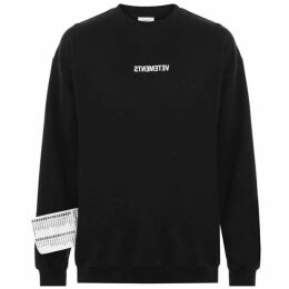 Vetements Inverted Logo Printed Sweatshirt