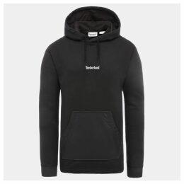 Timberland Mixed Media Logo Sweatshirt For Men In Black Black, Size XL