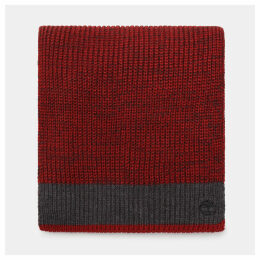 Timberland Farview Hill Colourblock Scarf For Men In Red Red, Size ONE