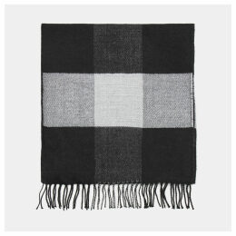 Timberland Buffalo Check Scarf For Men In Black Black, Size ONE