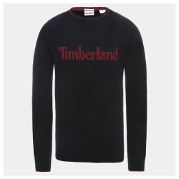 Timberland Linear Logo Sweater For Men In Navy Navy, Size XXL