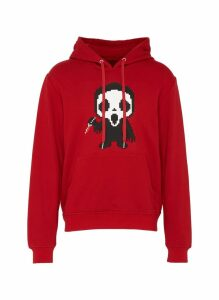 Textured creature with knife print hoodie