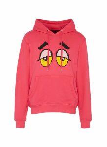 Textured drowsy eye print hoodie