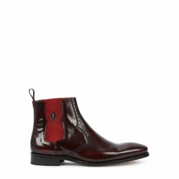 Jeffery West Hunger Burgundy Leather Chelsea Boots