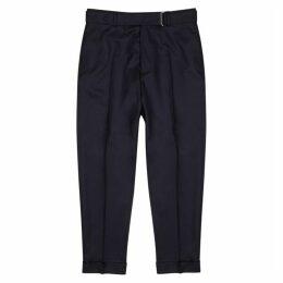 Officine Générale Ollie Navy Wool Trousers