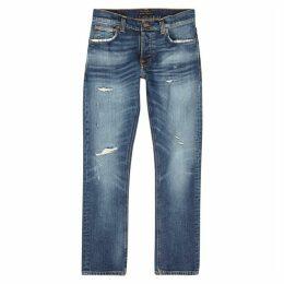 Nudie Jeans Grim Tim Blue Slim-leg Jeans