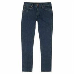 Nudie Jeans Lean Dean Dark Blue Slim-leg Jeans