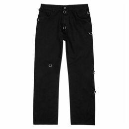 Raf Simons Black Ring-embellished Jeans