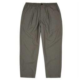Marni Grey Wool Cropped-fit Trousers