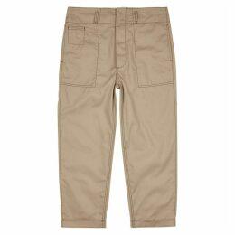 Marni Beige Cotton-blend Trousers