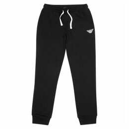 Emporio Armani Black Jersey Sweatpants