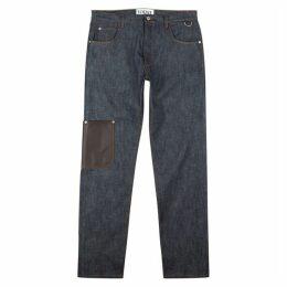 Loewe Dark Blue Wide-leg Jeans