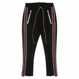 RHUDE Traxedo Black Stretch-jersey Sweatpants