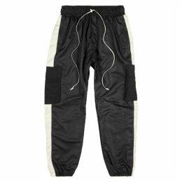 Daniel Patrick Parachute Black Shell Sweatpants