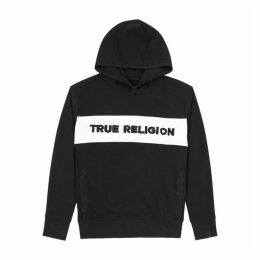 True Religion Black Hooded Jersey Sweatshirt