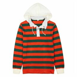 Loewe Striped Hooded Cotton Top