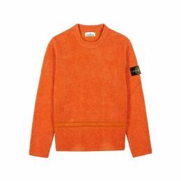 Stone Island Orange Chenille Sweatshirt