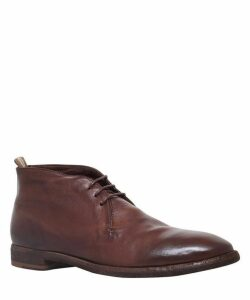 Leather Three-Eye Desert Boots