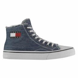 Tommy Jeans Jeans Denim Hi Top Trainers Mens