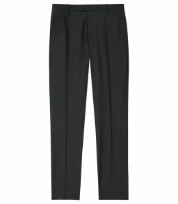 Reiss Winks T - Slim-fit Wool Trousers in Dark Green, Mens, Size 38