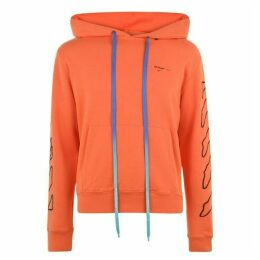 Off White Abstract Arrow Hooded Sweatshirt