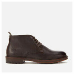 Barbour Men's Derwent Leather Chukka Boots - Dark Brown - UK 11 - Brown