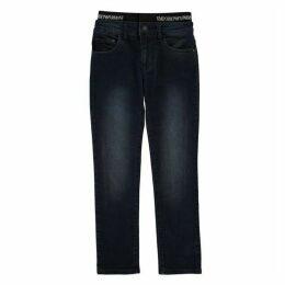 Emporio Armani Logo Waistband Jeans