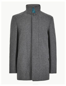 M&S Collection Funnel Neck Jacket
