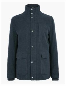 M&S Collection Cotton Rich Italian Moleskin Coat