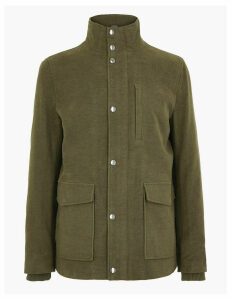 M&S Collection Cotton Rich Italian Moleskin Coat