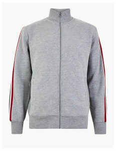 M&S Collection Cotton Rich Funnel Neck Sweatshirt