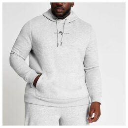 Mens River Island Big and Tall Grey Maison Riviera hoodie