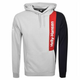Helly Hansen Young Urban Logo Blocked Hoodie Grey