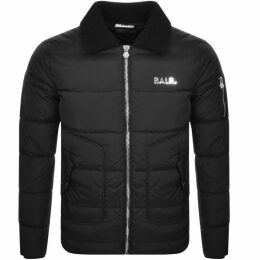 BALR Shearling Collar Padded Jacket Black