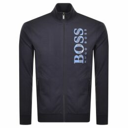 BOSS HUGO BOSS Full Zip Logo Sweatshirt Navy