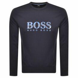 BOSS HUGO BOSS Crew Neck Logo Sweatshirt Navy
